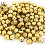 ลูกปัดทองเหลือง กลมเจียร 4X5มิล (1ขีด/595เม็ด)