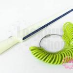 ทีวัดแหวนพร้อมห่วงแหวน สีเขียว (1ชุด)