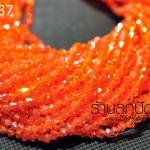 คริสตัลจีน 4 มิล สีส้มด้าน ทรง หัวท้าย - แหลม