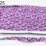 เชือกถักเปีย สีม่วง-บานเย็น กว้าง 10มิล(1หลา/90ซม.)
