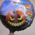 ลูกโป่งฟลอย์ Happy Halloween ฟักทอง - Happy Halloween Pumkins Foil Balloon / Item No.TL-A046
