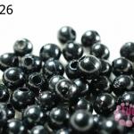 ลูกปัดมุก พลาสติก สีดำ 5 มิล 1 ขีด