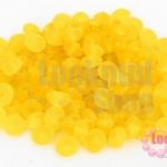 ลูกปัดแก้ว ทรงจานบิน สีเหลือง 6มิล (1ขีด/632ชิ้น)