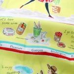 คอตตอนญี่ปุ่น ลายสาวปารีส สีเหลืองสด จาก Yuwa Life Collection เหมาะสำหรับงานผ้าทุกชนิด ตัด กระโปรง ทำกระเป๋า ปลอกหมอน และอื่นๆ