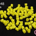 เม็ดบีทรีดร้อน สีเหลืองหม่น 5 มิล (1ขีด/1,820ชิ้น)