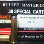 ลูกกระสุน .38 spl JHP bullet