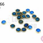 เพชรแต่ง กลม สีน้ำเงิน ไม่มีรู 6มิล(10ชิ้น)