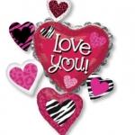 ลูกโป่งฟลอย์นำเข้า Love You Animal Print Cluster / Item No. AG-25532 แบรนด์ Anagram ของแท้