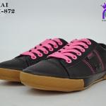 รองเท้าผ้าใบหญิงสปอร์ต Y.BOKAI รุ่นBOK-872 สีดำชมพู เบอร์37-41
