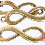 จี้ทองเหลือง Infinity 40 mm.