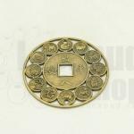 เหรียญจีน สิบสองนักษัตร สีทองเหลือง 45มิล(1ชิ้น)