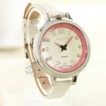 Pre-order: Casual big dial Peach Love Julius watch