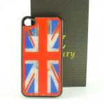 Case iPhone 4 Hard Case ลายธงหลังใสพร้อมเพชร