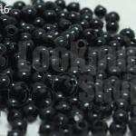 ลูกปัดมุกพลาสติก สีดำ 4มิล (1ขีด/100กรัม)