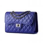 กระเป๋าเกาหลีพร้อมส่ง รหัส SUC0013BL สีน้ำเงิน สะพายข้างและถือผู้หญิง โซ่รมดำ สวยค่ะ