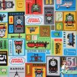 ผ้าคอตตอนญี่ปุ่น ลาย โทมัส ( Thomas & Friends) เนื้อหนาค่ะ เหมาะสำหรับงานผ้าทุกชนิด
