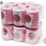 เชือกเทียน ตราน้ำเต้า(ม้วนใหญ่) สีชมพู #933 (12ม้วน)