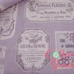 คอตตอนลินิน ญี่ปุ่นสไตล์วินเทจ โทนสีม่วงอ่อนๆ เหมาะทำกระเป๋าใบใหญ่ ปลอกหมอน และงานผ้าอื่นๆ ค่ะ