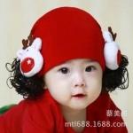 หมวกปอยผม สีชมพู สีแดง สีชมพูเข้ม MC113
