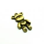จี้ทองเหลืองรูปหมี ขนาด 15 มิล ยาว 29 มิล ราคา 10 บาท