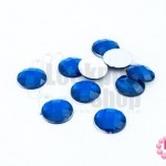 เพชรแต่ง กลม สีน้ำเงิน ไม่มีรู 12มิล(10ชิ้น)