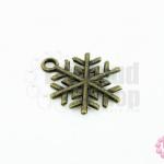 จี้ทองเหลือง รูปหิมะ 15X20 มิล(1ชิ้น)