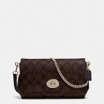 กระเป๋า COACH SIGNATURE MINI RUBY CROSSBODY MAHOGANY F34615