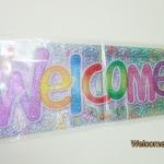 ป้ายฟลอย์ Banner เขียน Welcome