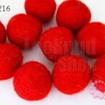 ลูกบอล Feit 25มิล #1 สีแดง (5ลูก)