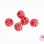บอลเพชร เกรดดี 8 มิล สีเเดง