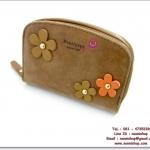 กระเป๋าสตางค์พร้อมส่ง รหัส PT14-185 ใบกลาง มีซิปรอบ ประดับดอกไม้น่าใช้ค่ะ