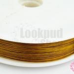 ลวดสลิงสำหรับร้อยหิน สีทองเหลือง เบอร์ 45(1ม้วน)