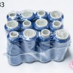 เชือกเทียน ด้ายเย็บ สีน้ำเงิน #5016 (12ม้วน)