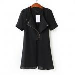 2,014 สถานี Hitz ยุโรปฝ้ายเย็บแขนเสื้อชีฟองซิปเสื้อผู้หญิงเสื้อกันลมขนาดเล็กแจ็คเก็ต