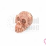 หินอาเกต สีชมพู หัวกระโหลก 31X49มิล(1ชิ้น)