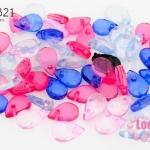 ลูกปัดพลาสติกทรงหยดน้ำ คละสี 6X9มิล (1,113เม็ด)