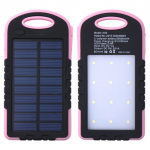 แบตสำรอง Power Bank พลังงานแสงอาทิตย์ 3 ระบบ กันน้ำได้ Solar Charger with LED Light ขนาด 50000 mAh