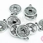 จี้โรเดียม เหรียญจีน 15มิล(10ชิ้น)