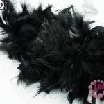 ขนนกเฟอร์ สีดำ (1เส้น)