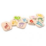 ของเล่นไม้ ของเล่นเด็ก ของเล่นเสริมพัฒนาการ Hand Sign Number 1-10 ชุดนิ้วนับเลข (ส่งฟรี)