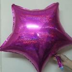ลูกโป่งฟลอย์รูปดาว Laser สีชมพู ไซส์ 19 นิ้ว - Star Shape Laser Foil Balloon Pink Color / TL-G004