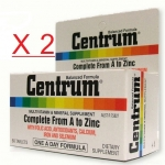Centrum Multi Vitamins เซ็นทรัม วิตามินรวม ขนาด 30 แคปซูล [ขวดเล็ก] X 2 ขวด