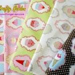 ผ้าคอตตอน ผ้าฝ้ายจากญี่ปุ่น ของ YUWA ลาย คัพเค้ก น่ารักมาก มี 5 สีให้เลือกค่ะ