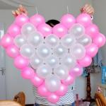 กรอบตาข่ายใส่ลูกโป่งทรงหัวใจ - Balloon Grid Mesh Heart Balloon