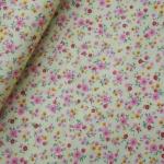 ผ้าฝ้ายไทยลายดอกไม้เล็กๆ ขนาด 1 เมตร เป็นผ้าฝ้ายผ้าคาเนโบ เนื้อบาง ราคาประหยัด