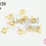 ตะขอก้ามปู แบบกลม สีทองอ่อน 5มิล(10ชิ้น)