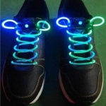เชือกผูกรองเท้าไฟ LED สีฟ้า/สีเขียว Shoelace - LED Blue/Green color