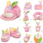ของเล่นเสริมพัฒนาการ Gift set ชุดของขวัญ สำหรับเด็กอ่อน Set น้องกระต่าย สีชมพู (ส่งฟรี)