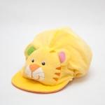 หมวกเด็ก หมวกเด็กอ่อน หมวกหน้าสัตว์ หมวกหน้าเสือ สีเหลือง ข้างหลังเป็นยางยืด ผ้านุ่ม สวมใส่สบาย (ส่งฟรี)