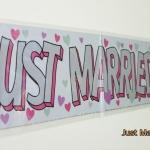ป้ายฟลอย์ Banner เขียน Just Married